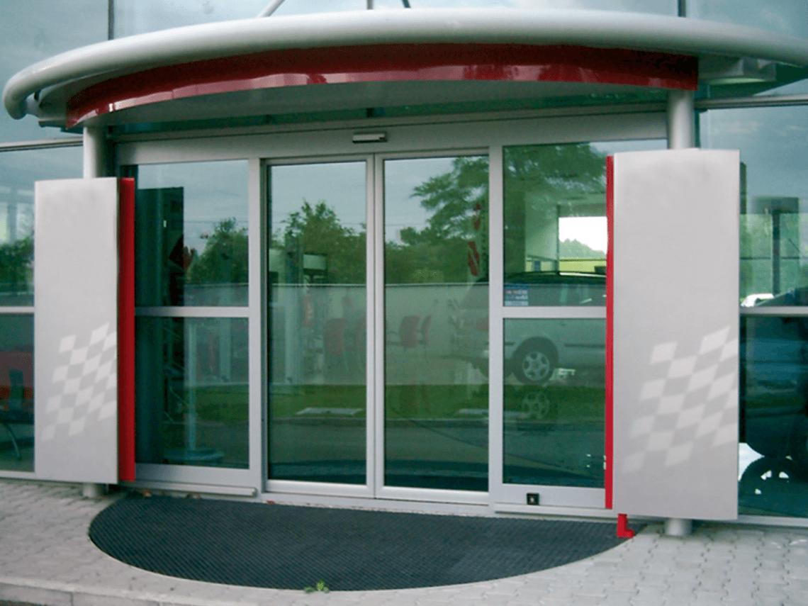 puerta antipanico automatica cristal madrid