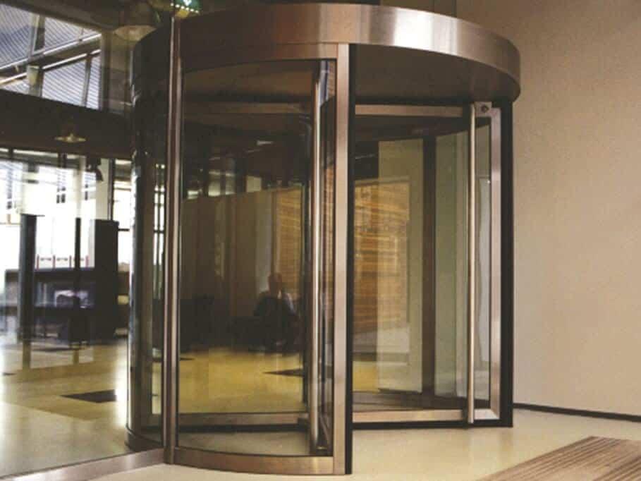 puerta automatica giratoria de cristal