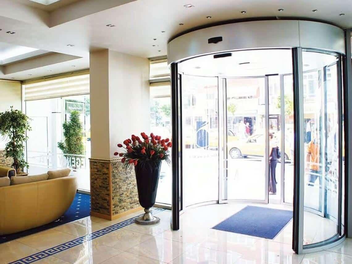 puertas circulares automaticas cristal para hoteles