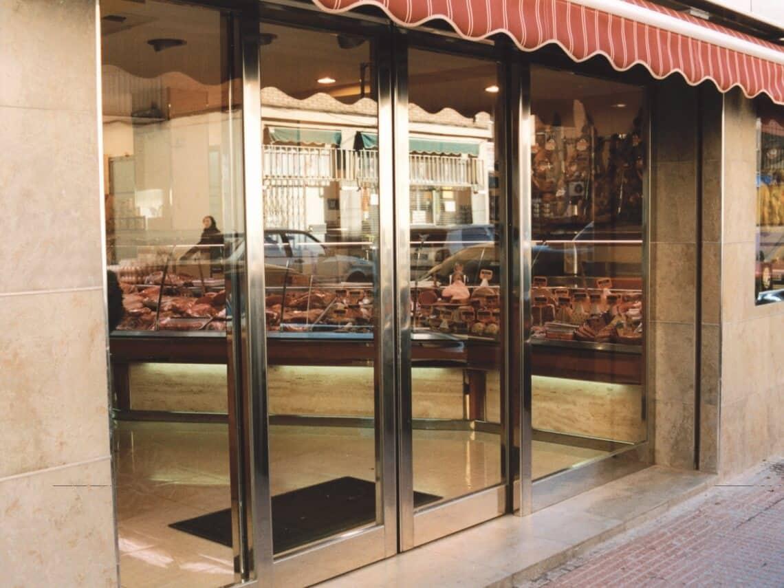 puerta automatica comercios