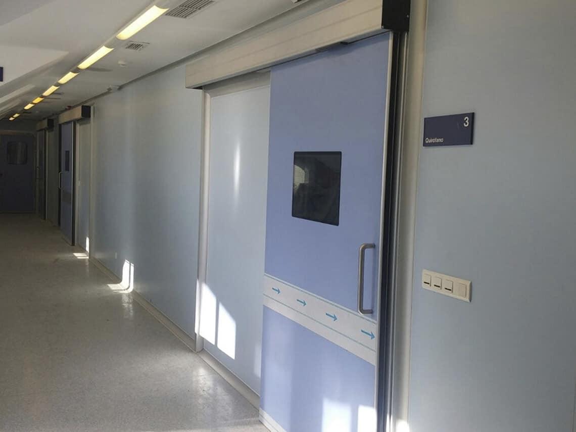 puertas hospitales precio instalacion